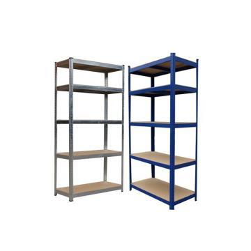 Shelf Unit, Flat Gray Shelves & Legs / 5-Shelf Steel Shelving Unit